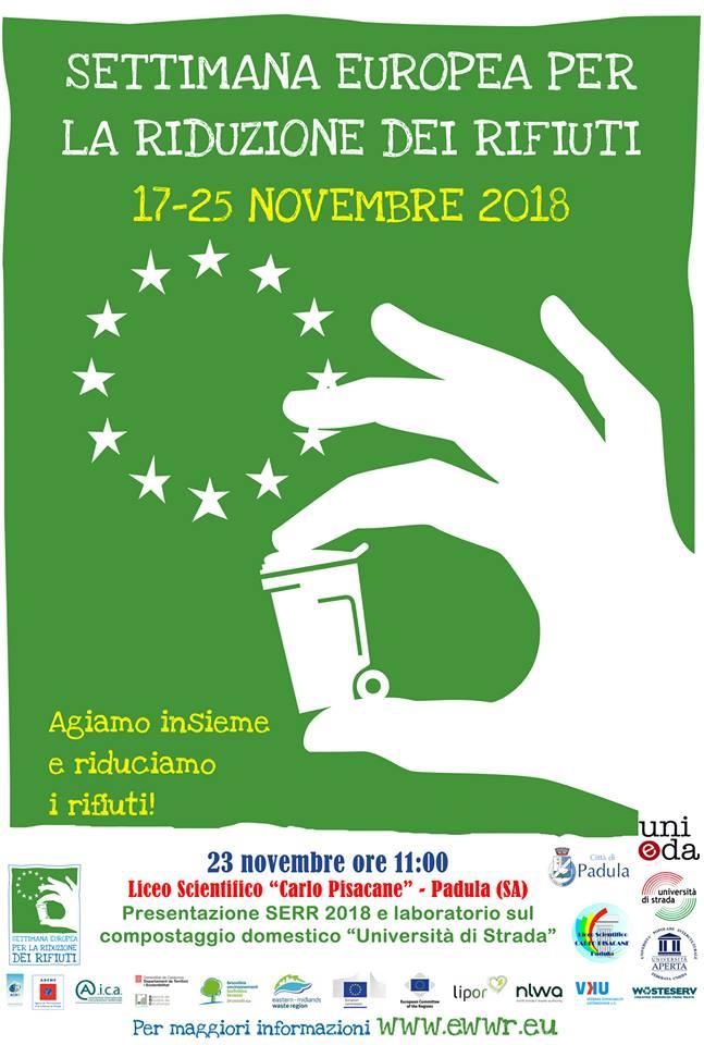 """Presentazione Settimana europea per la riduzione dei rifiuti e Laboratorio sul compostaggio domestico @ Liceo Scientifico """"Carlo Pisacane"""""""